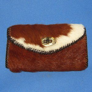 WOMEN'S COW HIDE & LEATHER POCKET BOOK